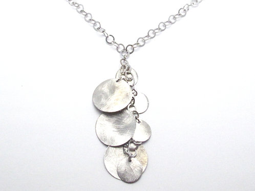 Sterling Silver Multidisc Necklace