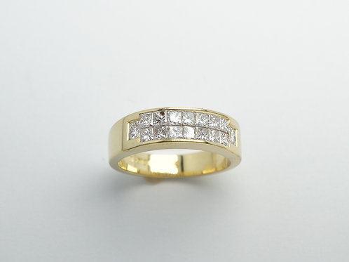 18 karat yellow gold diamond band