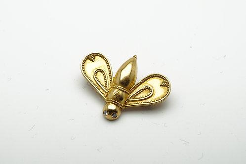 22 karat yellow gold pin