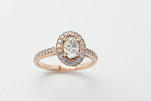 14kt rose gold diamond ring