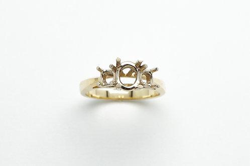 18 karat yellow gold and white gold engagement ring mounting