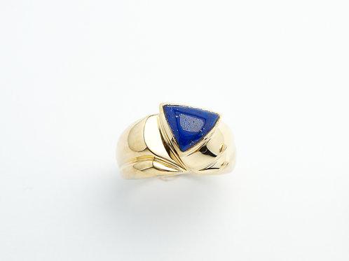 14 karat yellow gold lapis lazuli ring