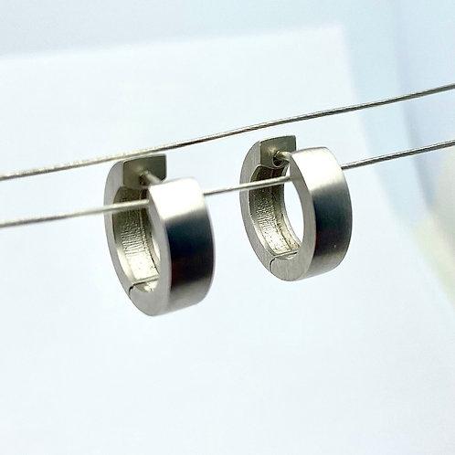 Platinum Hoop Earrings