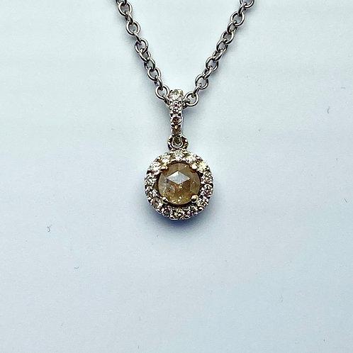 18 Karat White Gold Diamond Pendant