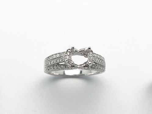 14 carat white gold semi mount diamond engagement ring