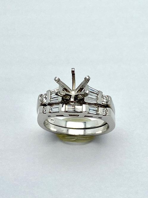 Platinum Diamond Semi-Set Bridal Set