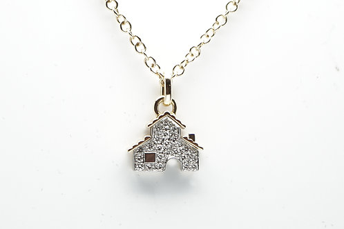 18 karat yellow gold diamond necklace