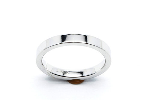 14 karat white gold wedding band