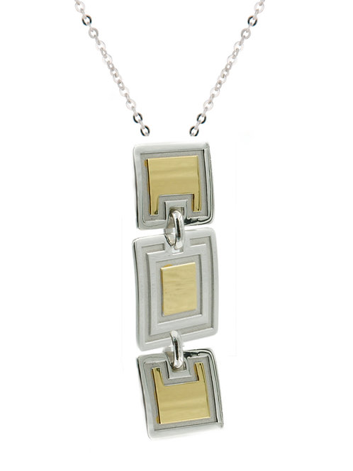 Sterling silver and yellow gold plated necklace