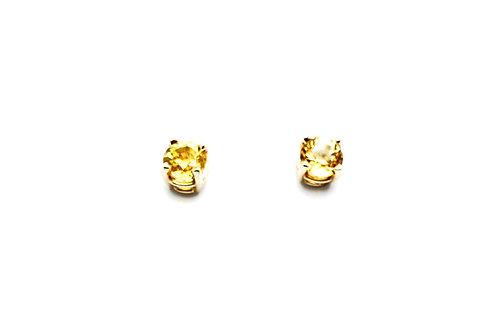 14 karat yellow gold yellow sapphire earrings