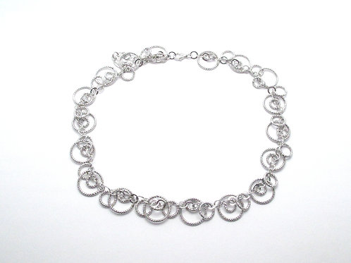 Sterling Silver Circular Necklace