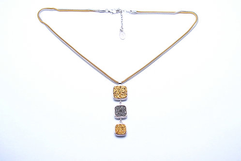 Sterling silver and drusy quartz necklace