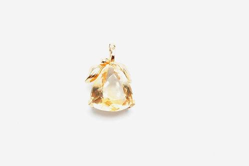 14 karat yellow gold citrine pendant