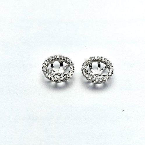 14 Karat White Gold Diamond Jackets