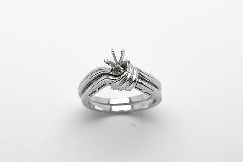 Platinum engagement ring set mounting