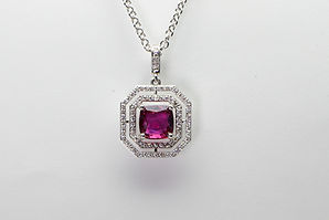 Curt Parker Jewelers diamond and ruby necklace