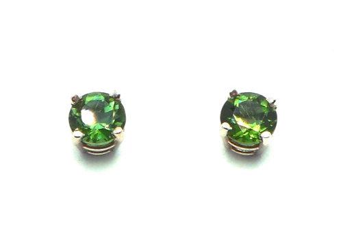 14 karat white gold green tourmaline earrings