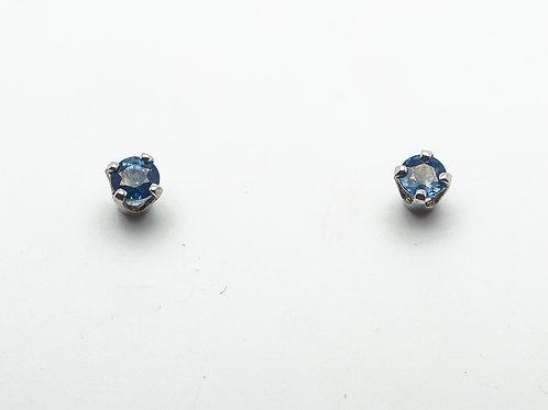 14 karat white gold sapphire earrings