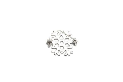 14 karat white gold pin