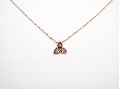 14 karat rose gold celtic trinity necklace