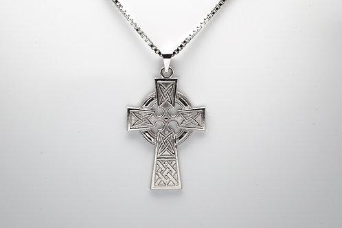 14 karat white gold cross pendant