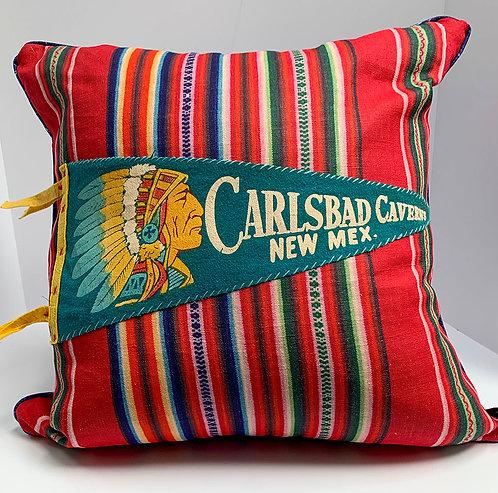 Vintage Carlsbad Pennant pillow