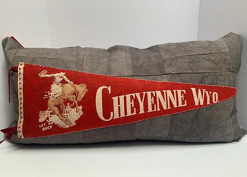 Vintage Cheyenne Pennant pillow