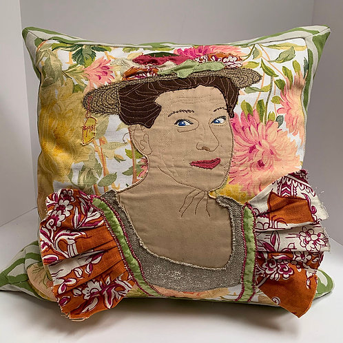 One of a kind Minnie Pearl Pillow