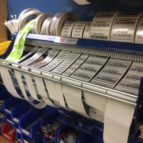 Required and unrequired labels clearly identify safety specs and proper manufacturing dates for the installer.