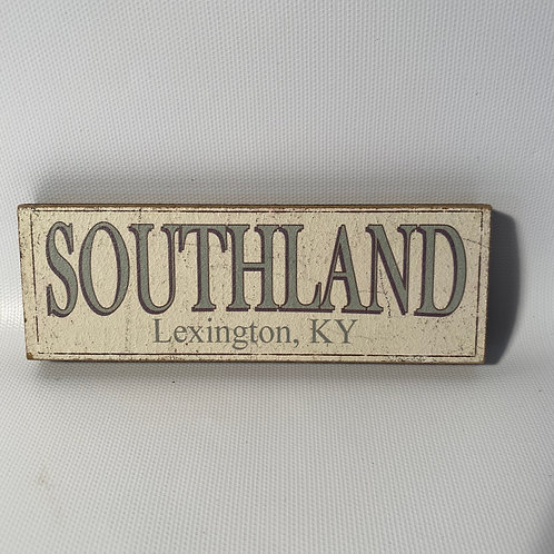 Southland Wood Sign