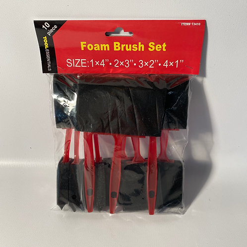 Foam Brush Set - 10 piece