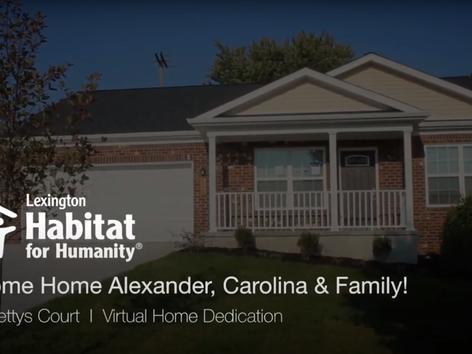Welcome Home Alexander, Carolina & Family!