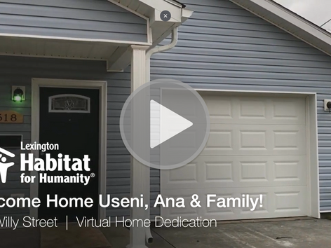 Welcome Home Useni, Ana & Family!