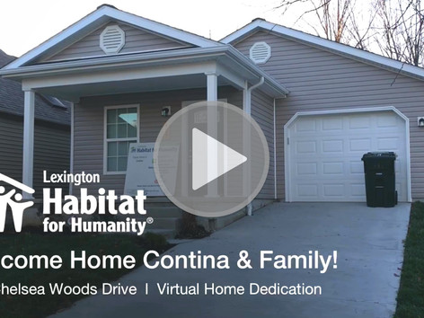 Welcome Home, Contina & Family!