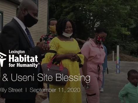 Site Blessing: Ana & Useni
