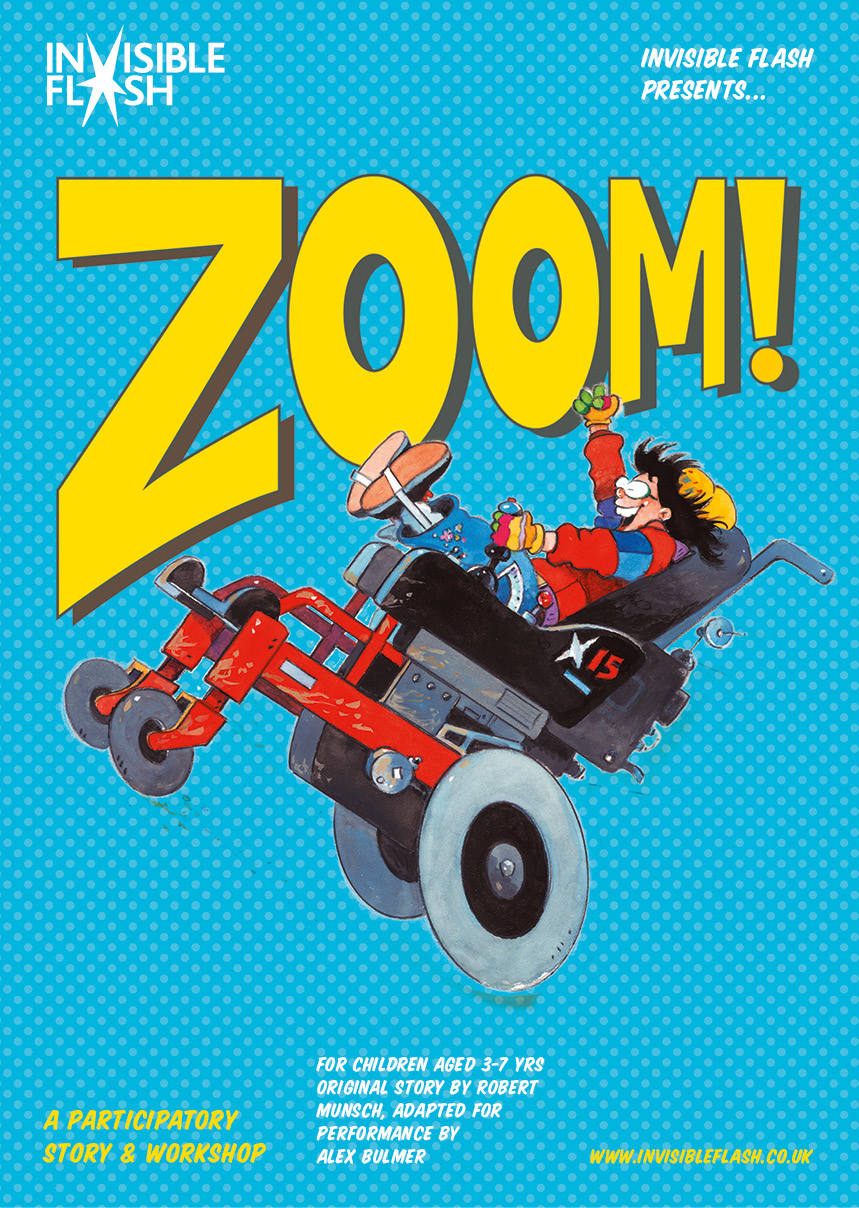 Invisible Flash Zoom Poster
