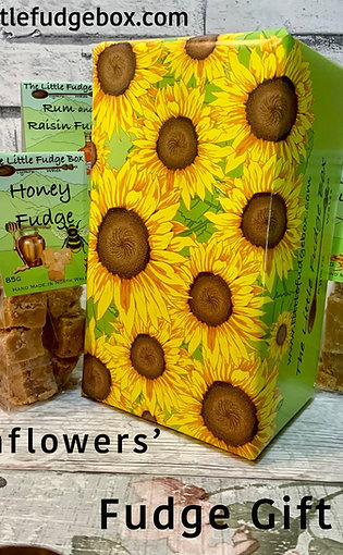 Fudge Gift Box 'Sunflowers' choose 5 bags, unique wrapping, a unique gift!