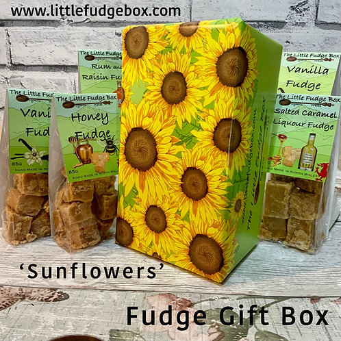 Sunflower gift box, sunflower gift wrap, paper, stocking filler ideas, christmas hamper ideas fillers, build your own gift