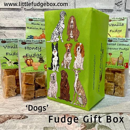 Fudge Gift Box Dog design delicious personalised Welsh handmade present