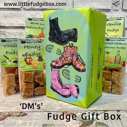 Fudge Gift Box Dr Martens Boots delicious personalised Welsh handmade present DM