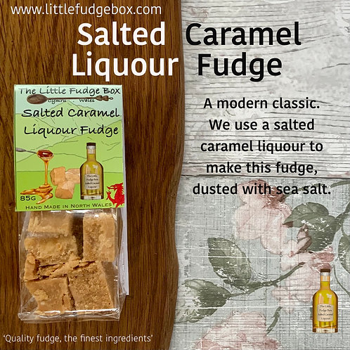 salted caramel liquour liquor, alcoholic fudge, adult christmas stocking filler gift idea hamper staff gift free from treat