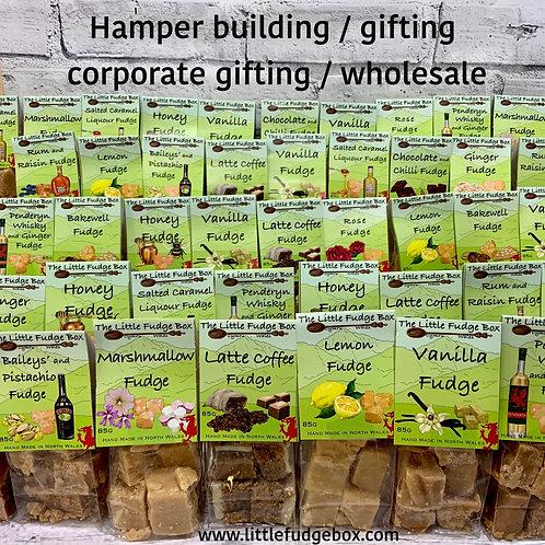 100 Bags of Fudge, hamper builder, wholesale,  stocking filler, corporate gift