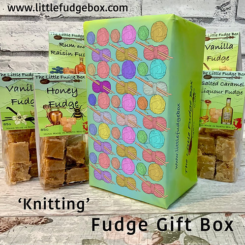 Fudge Gift Box Knitting delicious crumbly personalised Welsh handmade present