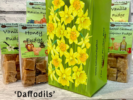 Spring Daffodils Fudge Gift Box