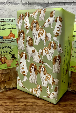 Fudge Gift Box 'King Charles Spaniel' choose 5 bags  Welsh handmade present
