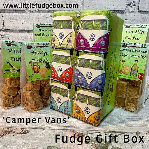 fudge gift box, vw, vw camper van, volks wagon gift, vw present, vdub, vw split screen, vw lovers, campervan holiday gift,