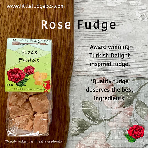 turkish delight rose fudge little fudge box delicate distinct eastern flavour compostable packaging gift birthday anniversary