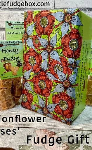 Fudge Gift Box 'Roses & passionflower ' choose 5 bags of fudge, build a box!