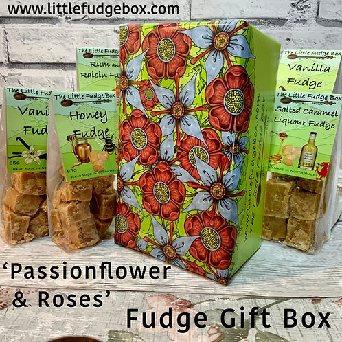 build a box, hamper items, stocking fillers, flower gift wrap, pre wrapped gift paper, rose, passionflower, flower patterns