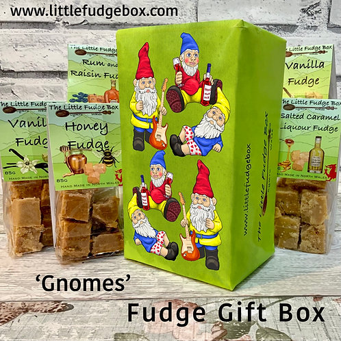 Fudge Gift Box ' Gnomes ' delicious crumbly personalised Welsh handmade present